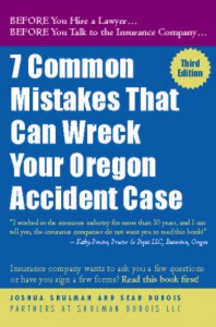 what to do after an Oregon accident