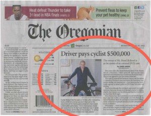 personal injury settlement bicycle accident Oregon